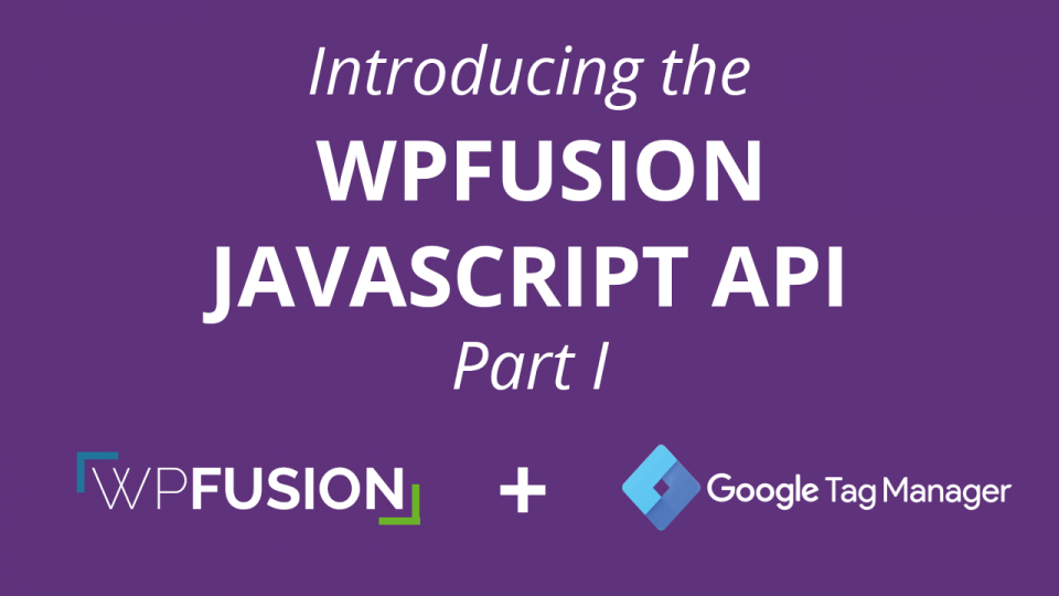 Introducing the WPFusion Javascript API – Part I